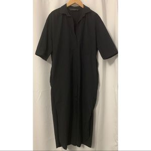 Zara Black Shirt Dress Size Small